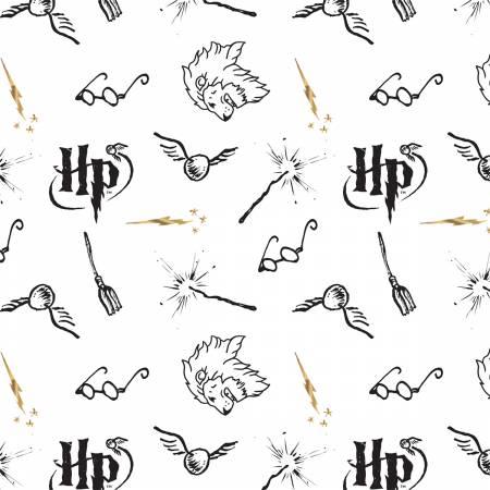 Literary/White (Double Gauze): Harry Potter