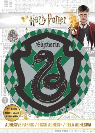 Harry Potter - HP Slytherin Crest - Adhesive Fabric 3in Badge