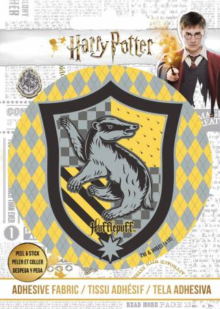 Harry Potter - HP Hufflepuff Crest - Adhesive Fabric 3in Badge