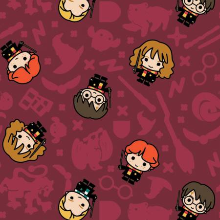 Harry Potter Kawaii Rookie Wizards Fabric by the Yard