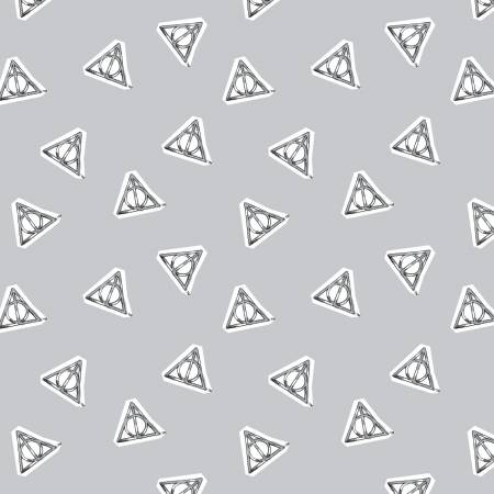 Harry Potter Watercolor Deathly Hallows Grey 23800530-2