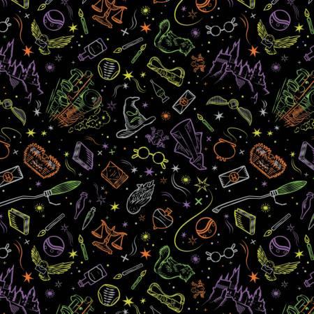 Black Halloween Harry Potter Artifacts Toss