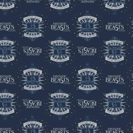 Fantastic Beasts - Navy Suitcase & Logo
