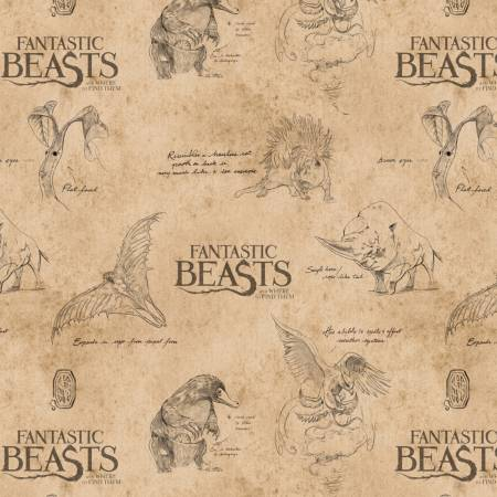 Fantastic Beasts Tan Logo & Creatures