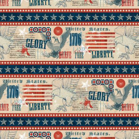 Multi Land of Liberty Repeating Stripe