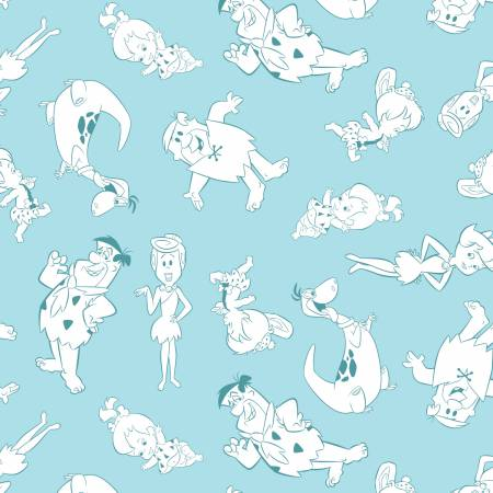 The Flintstones Tonal Characters - Lt Blue - 24060104-1