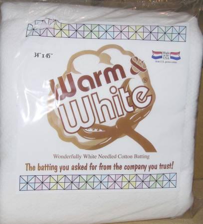 Warm & White Batting Craft Size