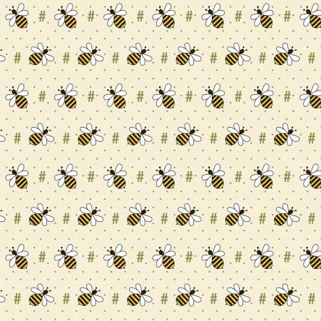 Cream - Bee Hash Tag