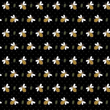 Black - Bee Hash Tag