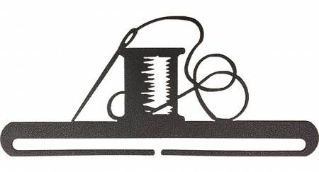 6in Needle & Thread Split Bottom Charcoal Fabric Holder