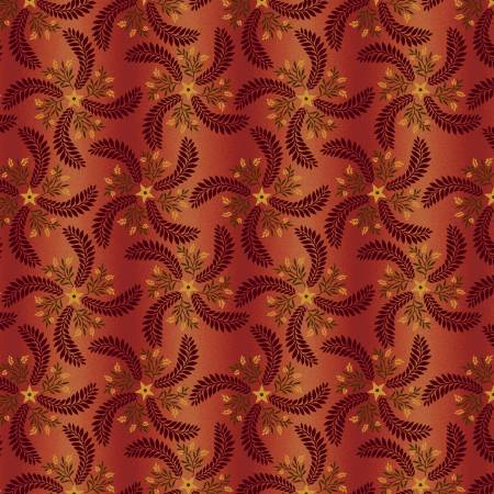 Country Journey, Pinwheel Ombre, Red