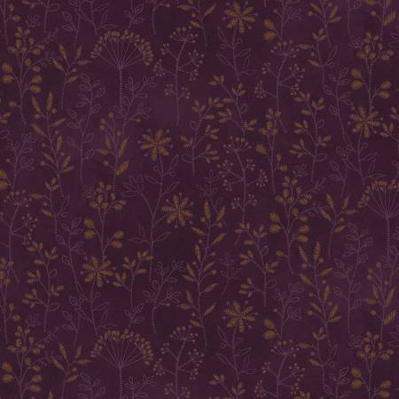 Purple Stitched Flower Stripe 2500-88