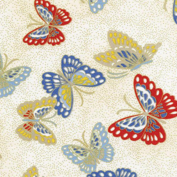 Cream Butterflies w/Metallic