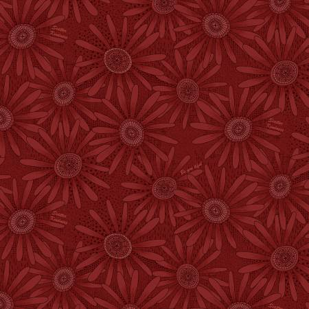 Cranberry Flower Allover 2501-80