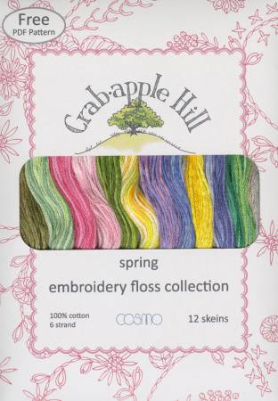 Lecien Crabapple Hill Spring 12 Skein Floss Collection
