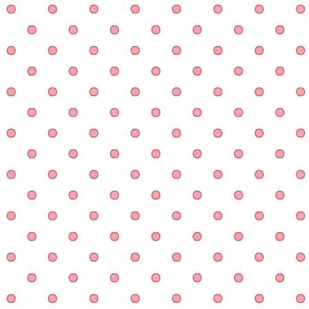 Pink Dots Fabric