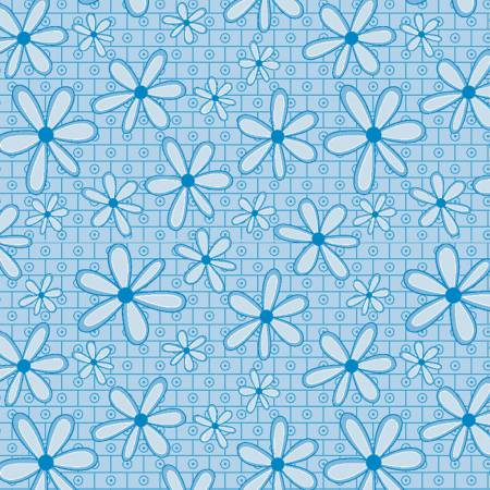 26 - Blue Daisy Remnant