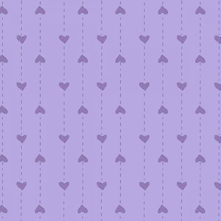 Medium Purple Dot Heart