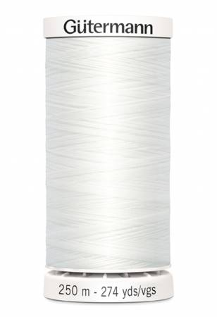 Gutermann Polyester Thread 274yd - 250-020 White