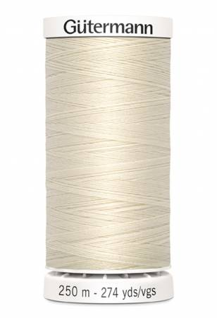 Sew-all Polyester All Purpose Thread 250m/273yds Eggshell color 22