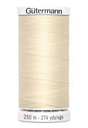 Sew-all Polyester All Purpose Thread 250m/273yds Ivory