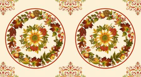 HG - Autumn is Calling - Cream Placemat  - Panel 24in