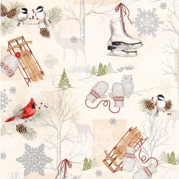 Winter Celebration -  Winter Scenic w/Metallic