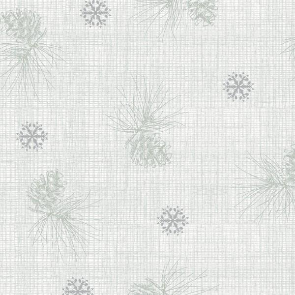 Winter Celebration - Grey Pine Cone Texture w/Metallic
