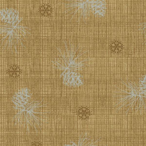 Medium Brown Pine Cone Texture w/Metallic 25199