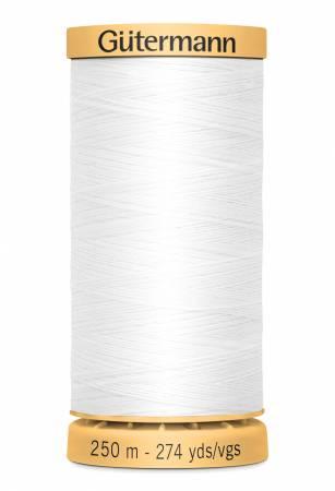Natural Cotton Thread 250m/273yds White