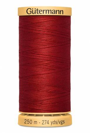 Natural Cotton Thread 250m/273yds Wine