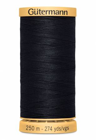 Natural Cotton Thread 250m/273yds Very Dark Navy