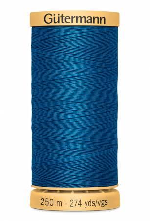 Gutermann Natural Cotton Thread 250m/273yds Blue