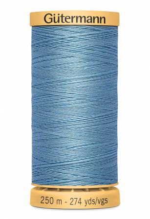 Natural Cotton Thread 250m/273yds Light Blue