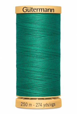 Natural Cotton Thread 250m/273yds Green