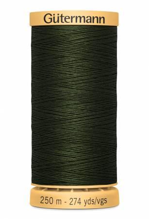GutermannNatural Cotton Thread 250m/273yds Very Dark Green