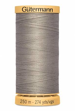 Natural Cotton Thread 250m/273yds Grey