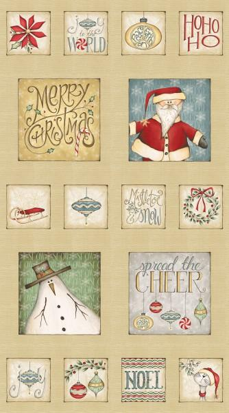 Christmas Whimsy Panel 24 x 42