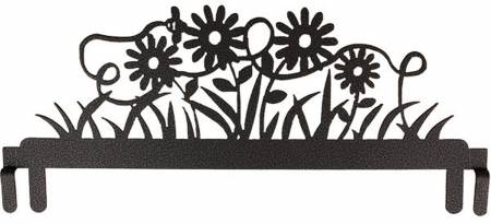 12in Daisy  & Bee Header Charcoal