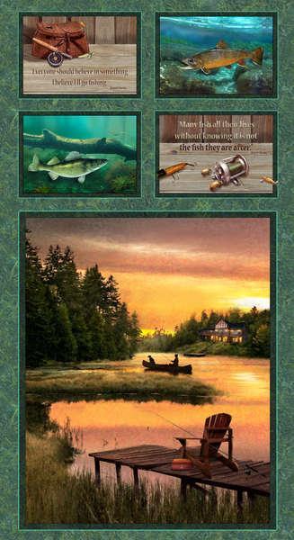 Lakeside Reflectioms panel multi
