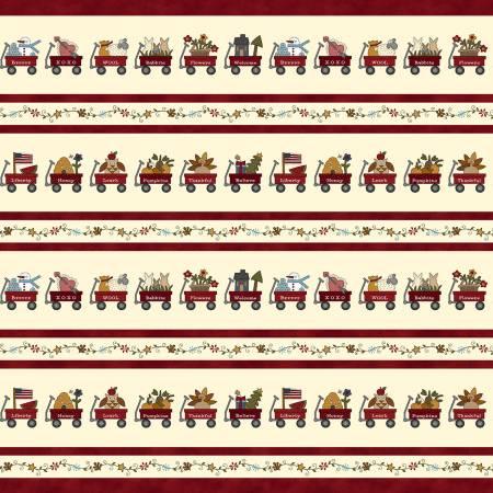 My Red Wagon - Red Border Stripe