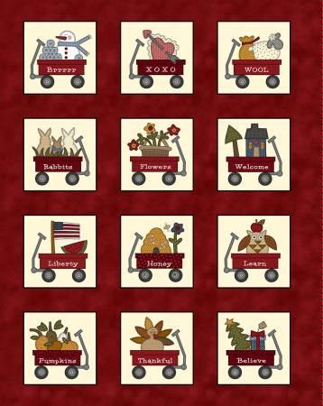 My Red Wagon - Calendar Panel