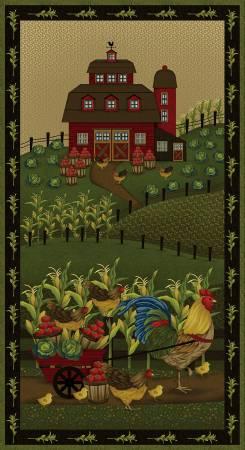 Black Farm Center Panel 24in x 44in