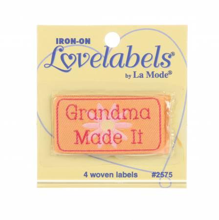 Quilt Labels-Iron On - Grandma Made It Lovelabels - Lansing - 2575QL