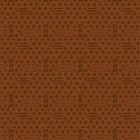 2583F-35 Rust Dots and Dashes on Flannel