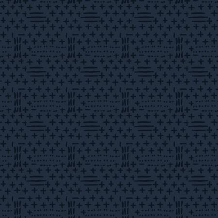 2583F-77 Navy Dots and Dashes on Flannel