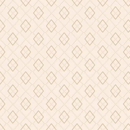 Folk Art Flannel Cream Argyle on Flannel