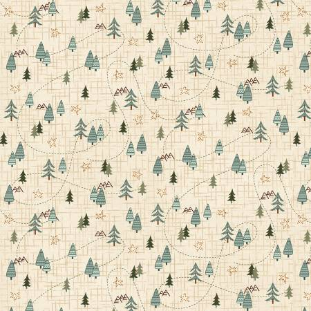 Cream Mini Trees on Flannel