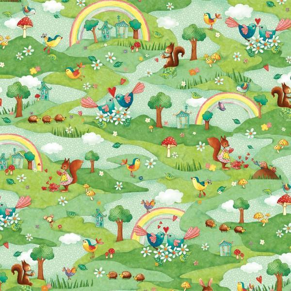 Rainbow Woodland 25885 Multi/Green Scenic