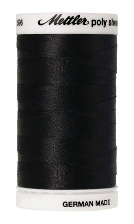 Poly Sheen Polyester Embroidery Thread 40wt 140d 800m/875yds Black